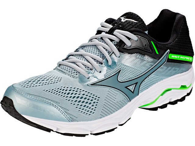 0c18ba04fe Mizuno Wave Inspire 15 Running Shoes Men grey green at Addnature.co.uk